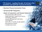 170 systems leading provider of solutions that automate and optimize financial processes3