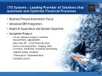 170 systems leading provider of solutions that automate and optimize financial processes4