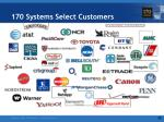 170 systems select customers