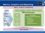 metrics analytics and reporting
