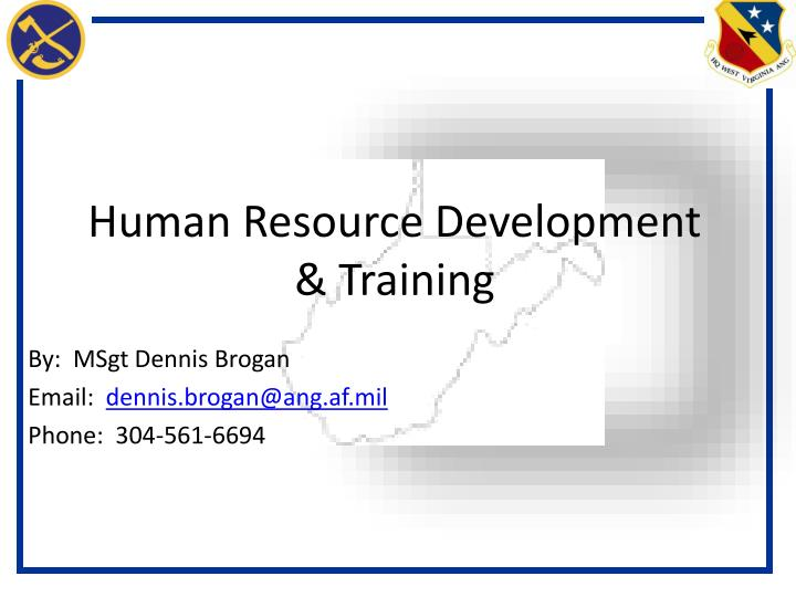 Human resource development training