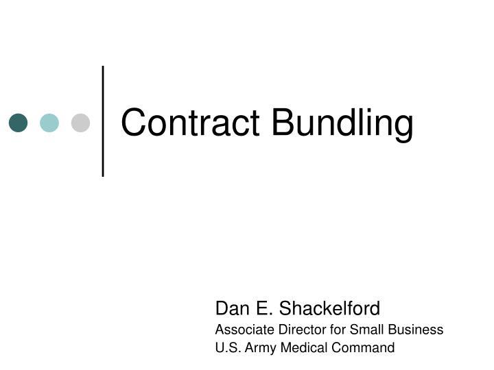 Contract Bundling
