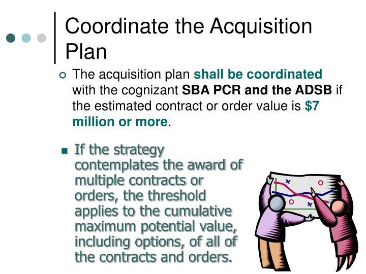 Coordinate the Acquisition Plan
