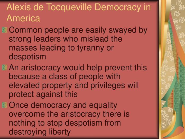 Alexis de tocqueville democracy in america1