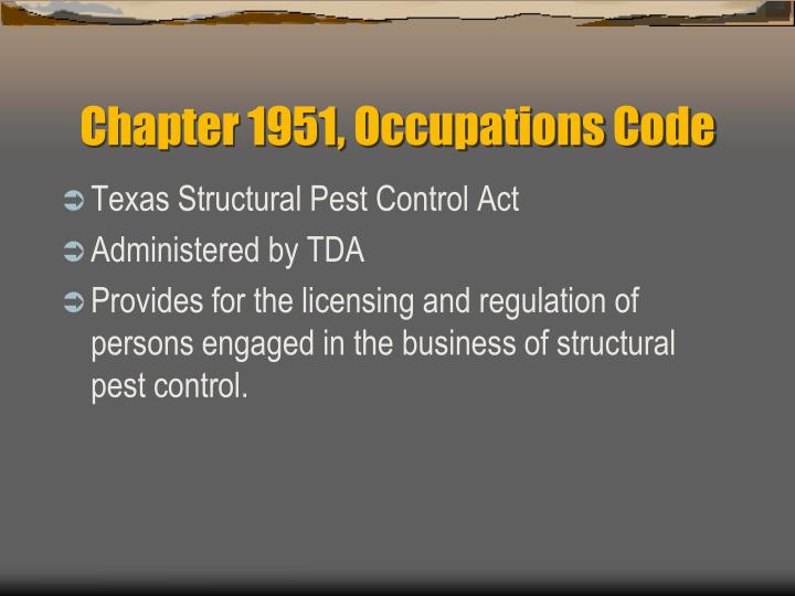 Chapter 1951, Occupations Code
