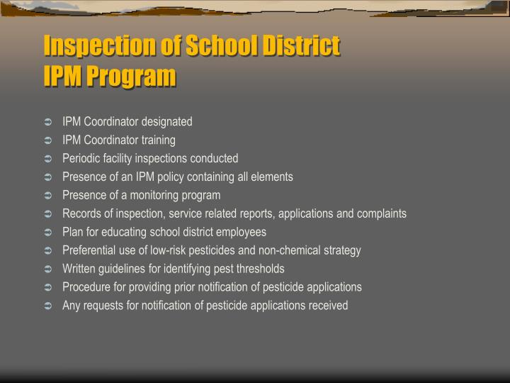 Inspection of School District