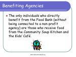 benefiting agencies1
