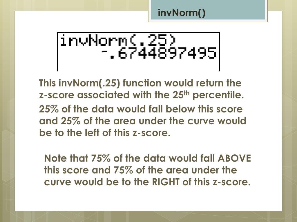 PPT - Normal Distribution using the TI-83 Graphing