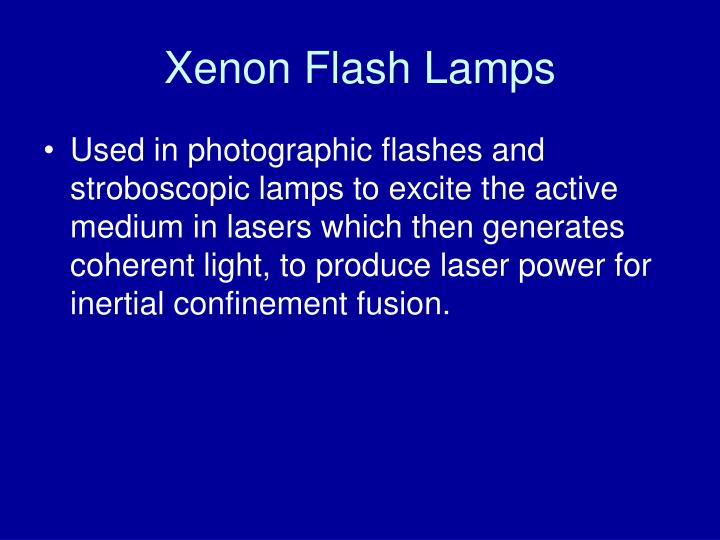 Xenon Flash Lamps