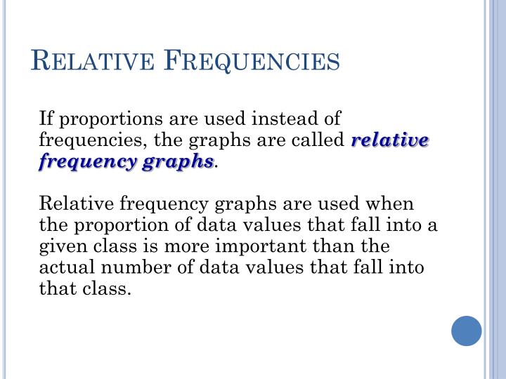 Relative Frequencies