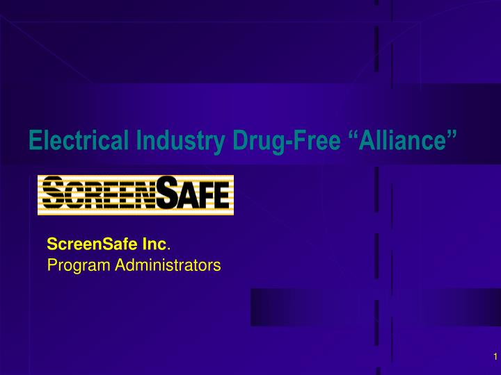 Electrical industry drug free alliance
