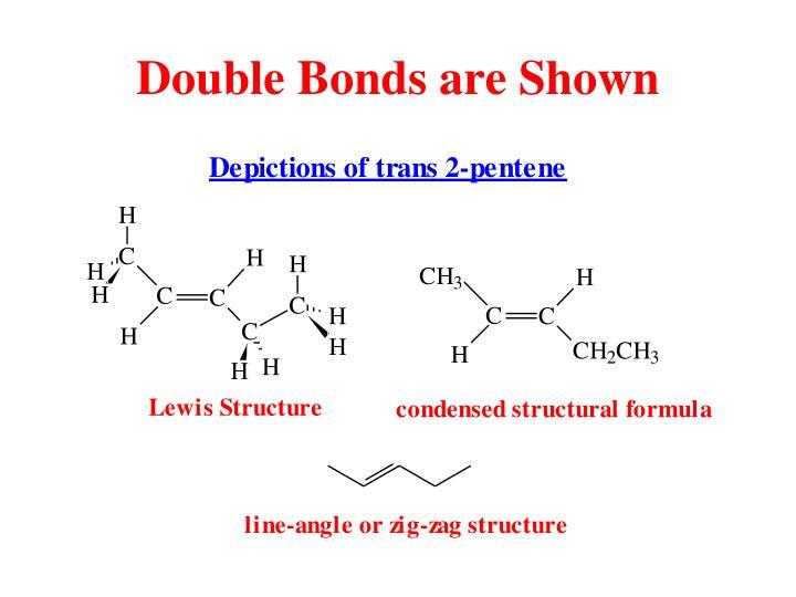 Double Bonds are Shown