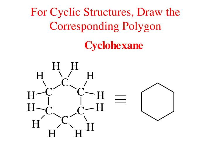 For Cyclic Structures, Draw the Corresponding Polygon