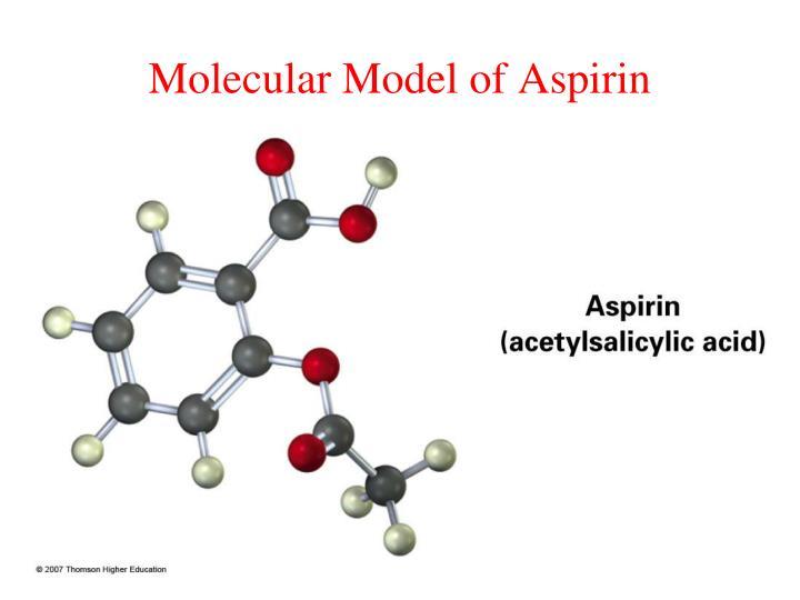 Molecular model of aspirin