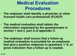 medical evaluation procedures