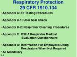 respiratory protection 29 cfr 1910 1342