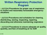 written respiratory protection program1