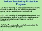 written respiratory protection program2