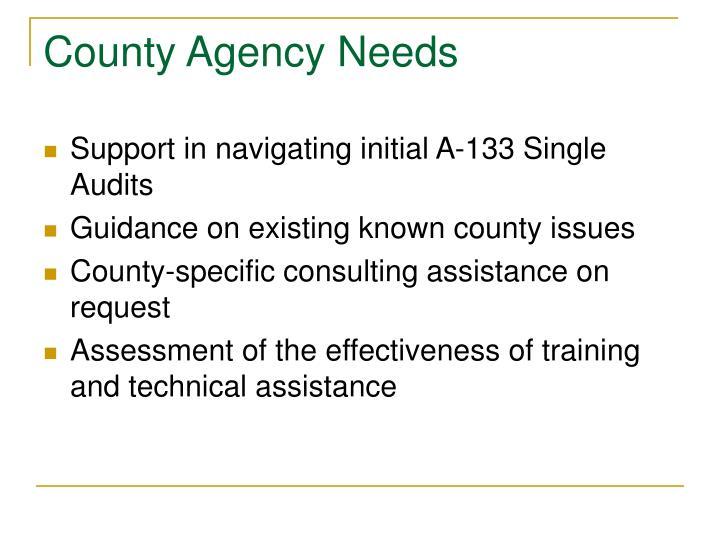County Agency Needs