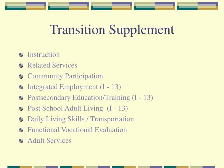 Transition Supplement