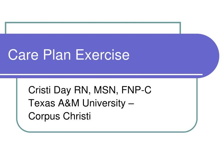 care plan exercise n.