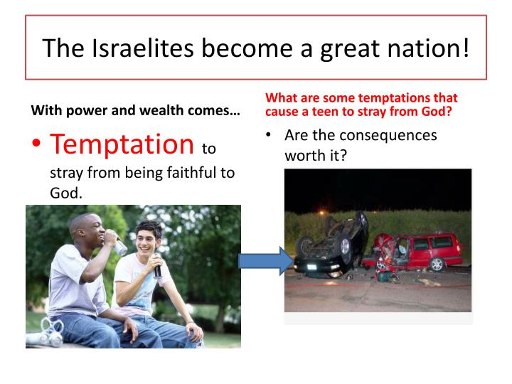 The Israelites become a great nation!