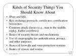 kinds of security things you should know about
