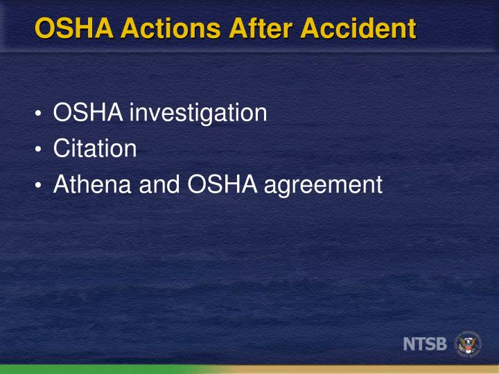OSHA Actions After Accident