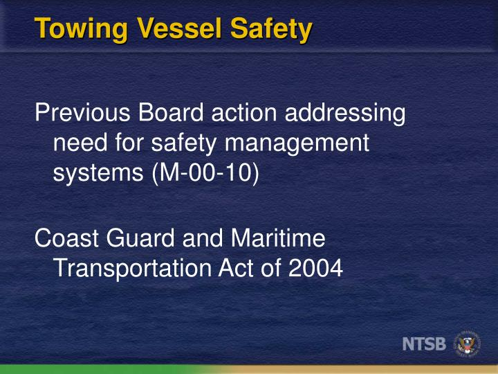 Towing Vessel Safety