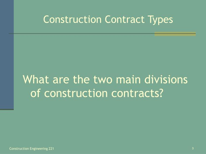 Construction contract types