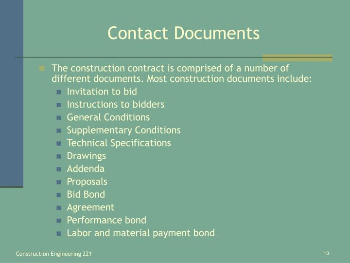Contact Documents
