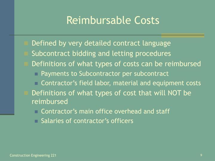 Reimbursable Costs