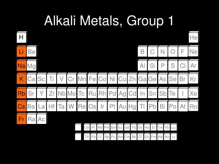 Alkali Metals, Group 1
