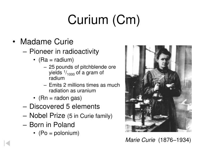 Curium (Cm)