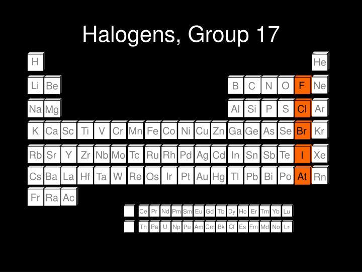 Halogens, Group 17