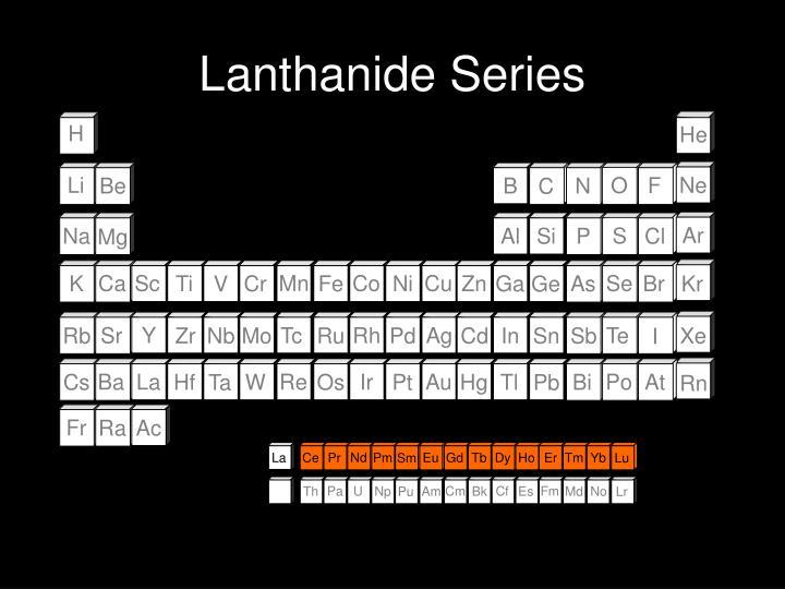 Lanthanide Series