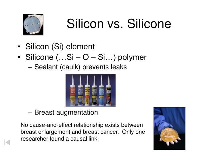 Silicon vs. Silicone