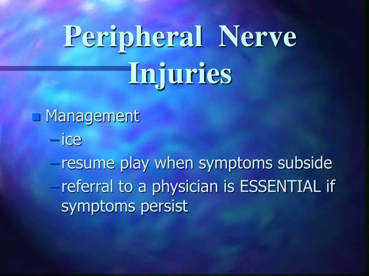 Peripheral  Nerve Injuries
