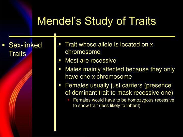 Sex-linked Traits