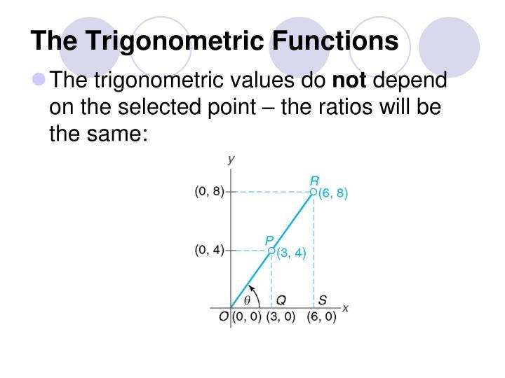 The trigonometric functions1