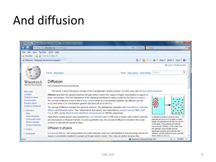 And diffusion