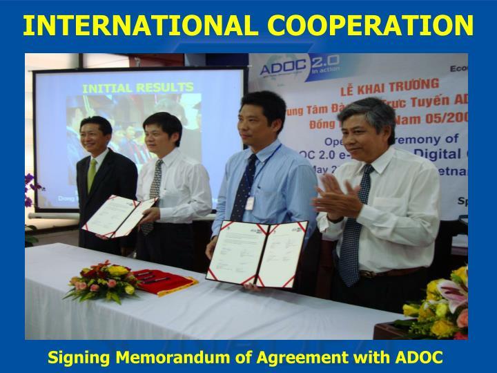 Signing Memorandum of Agreement with ADOC