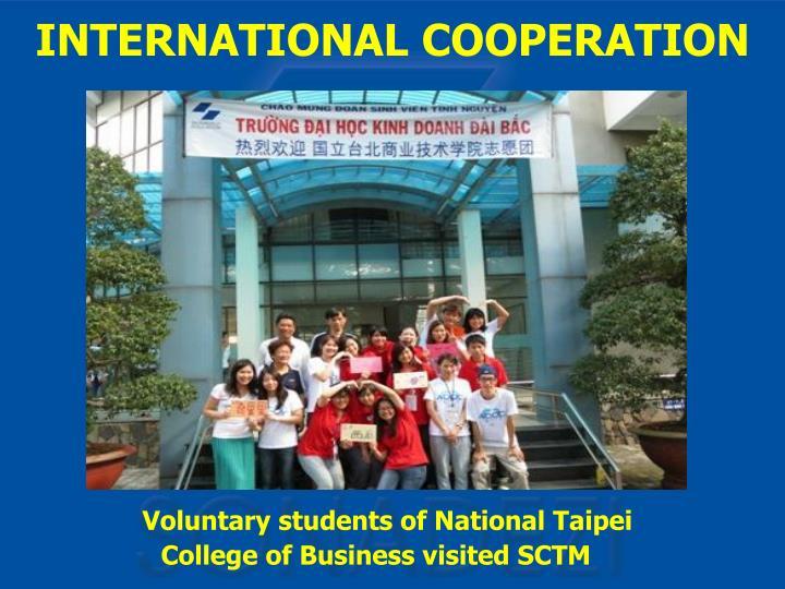 Voluntary students of National Taipei