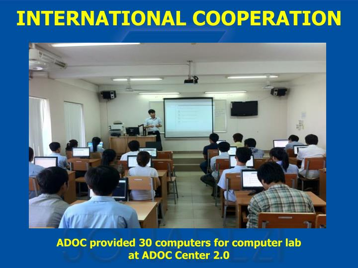ADOC provided 30 computers for computer lab