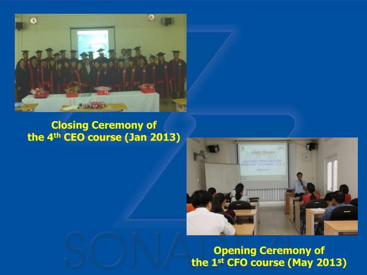 Closing Ceremony of