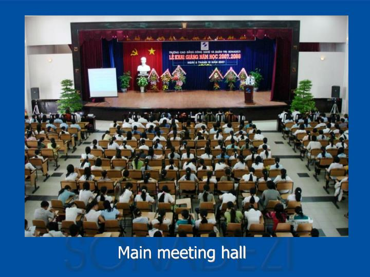 Main meeting hall