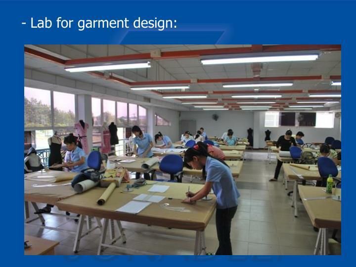 Lab for garment design: