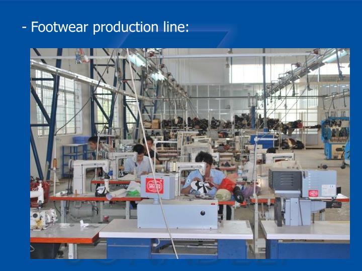 Footwear production line: