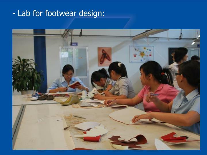 Lab for footwear design:
