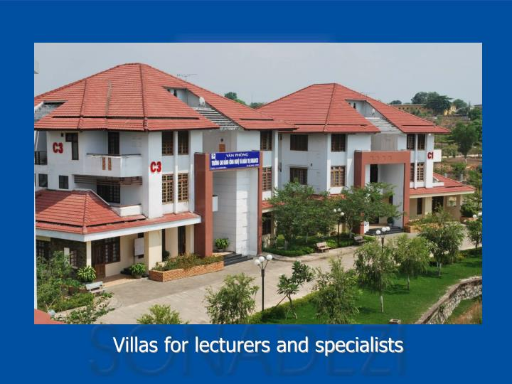 Villas for lecturers and specialists